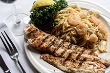 Day's Catch with Shrimp Fettuccine Alfredo